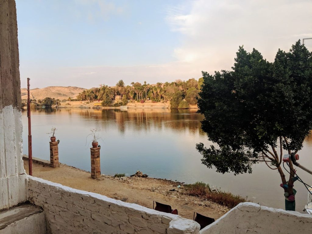 The Nile river from Elephantine Island in Aswan, Egypt