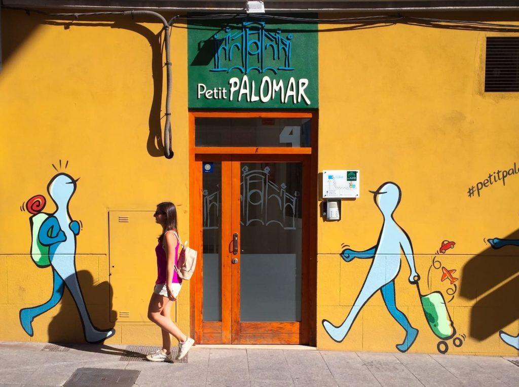 Person walking in Valencia, where Catalan is spoken