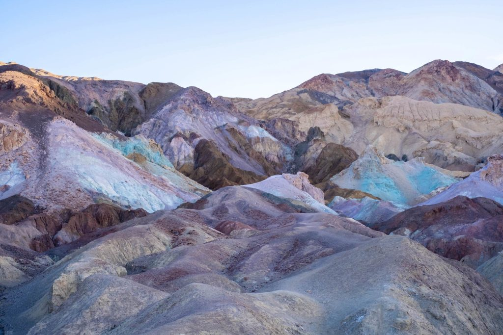 Artists Palette Beautiful Death Valley Attractions Volcanic Rocks