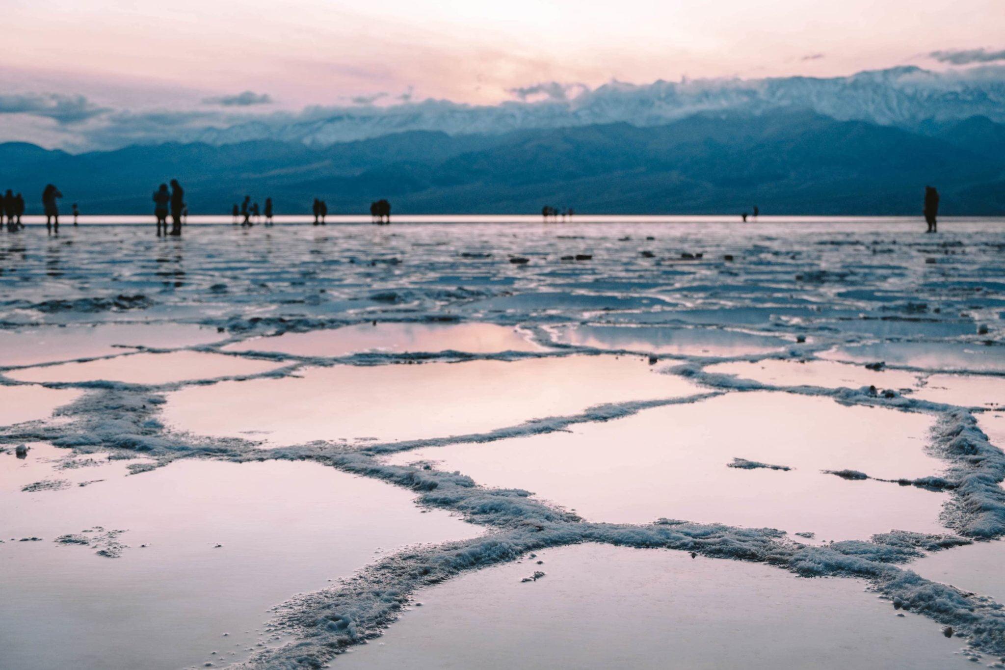 Badwater Basin - a salt flat below sea level in Death Valley