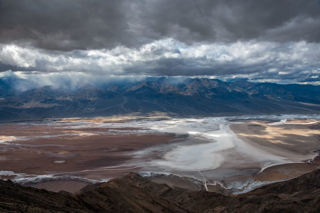 Dante's View in Death Valley on a cloudy day