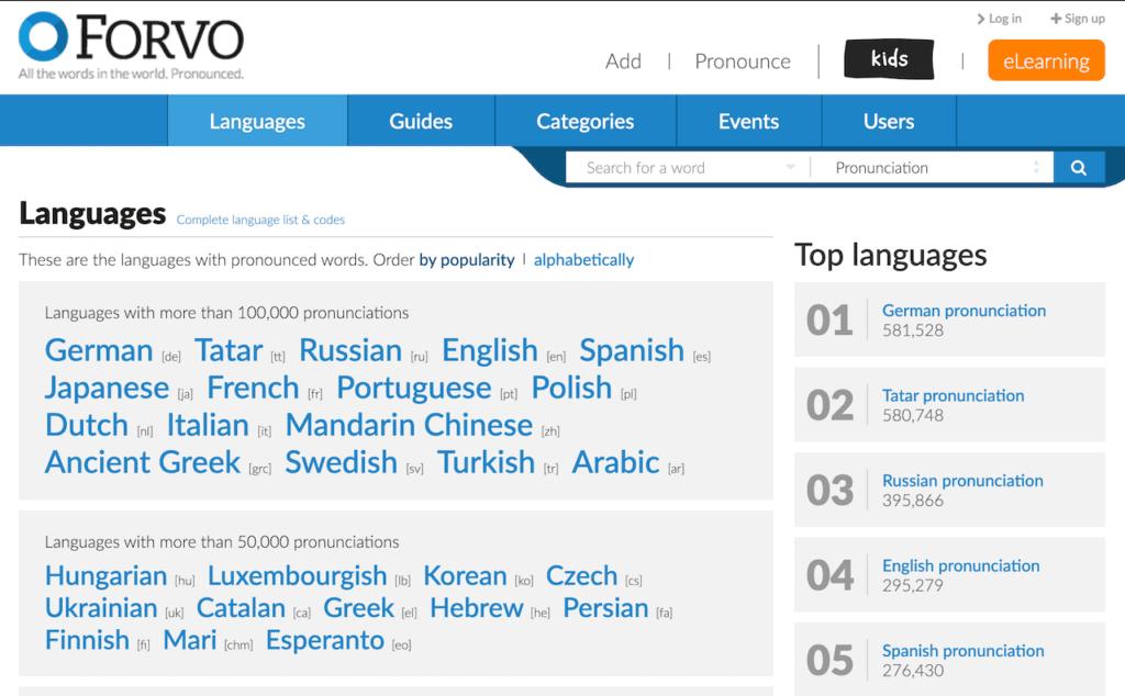 Forvo pronunciation dictionary - hebrew language resource
