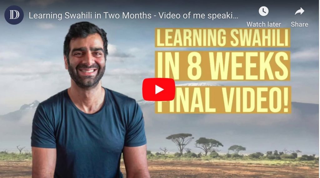 Speaking swahili in two months - dana