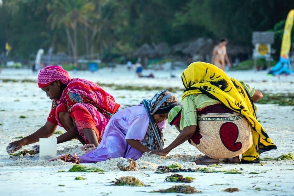 People in Zanzibar, where they speak Swahili