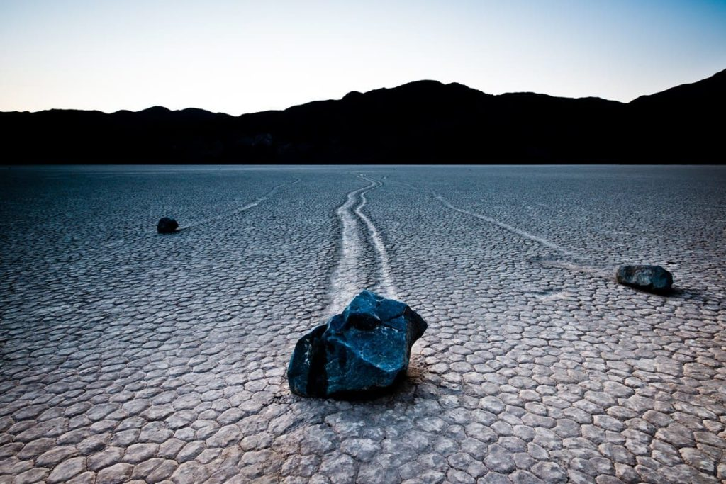 Racetrack playa is a remote but gorgeous attraction in Death Valley.