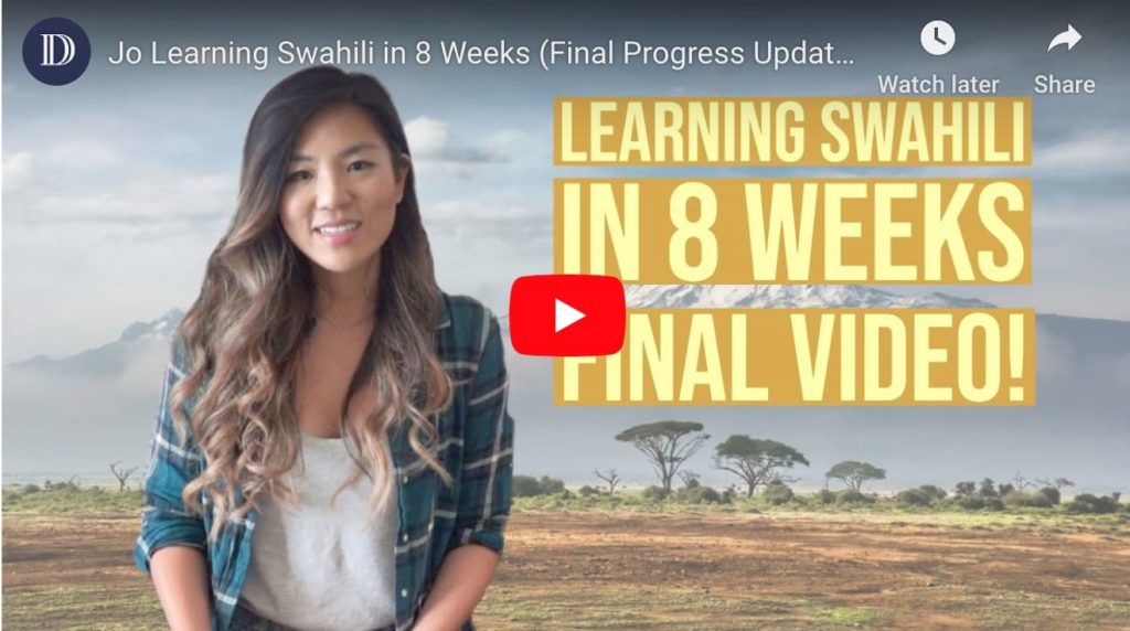 Speaking swahili in two months - Jo