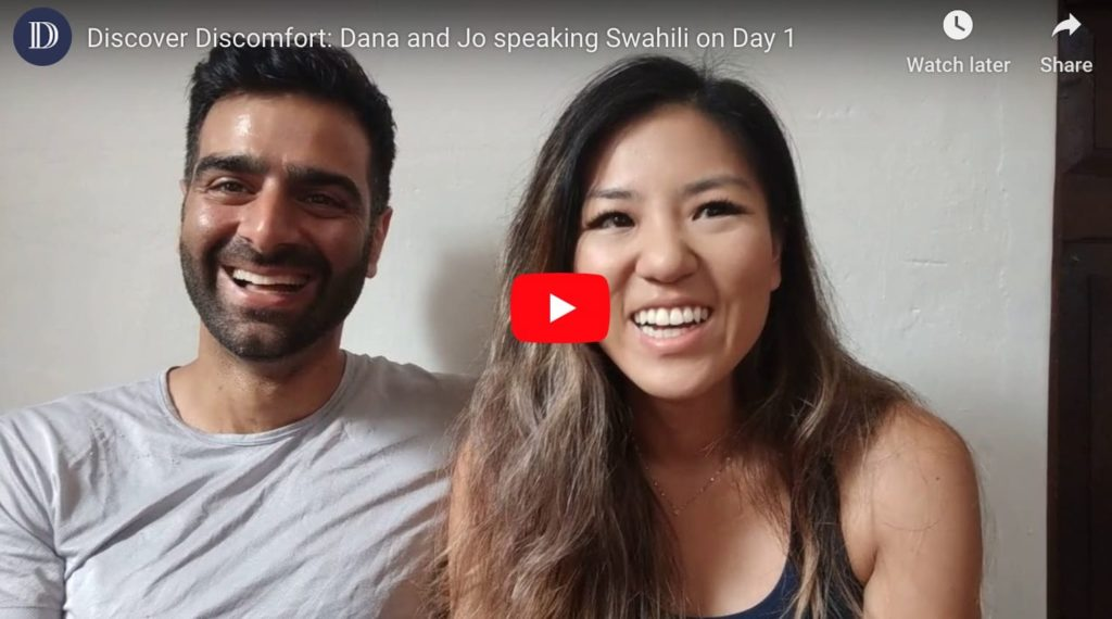 Speaking swahili in two months - Day 1 videos for Dana and Jo