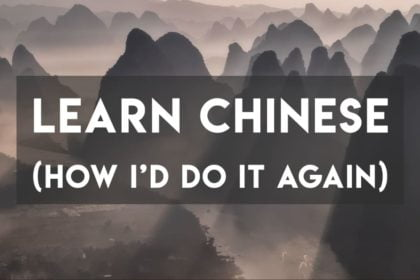 Learn Chinese over mountains of Guilin