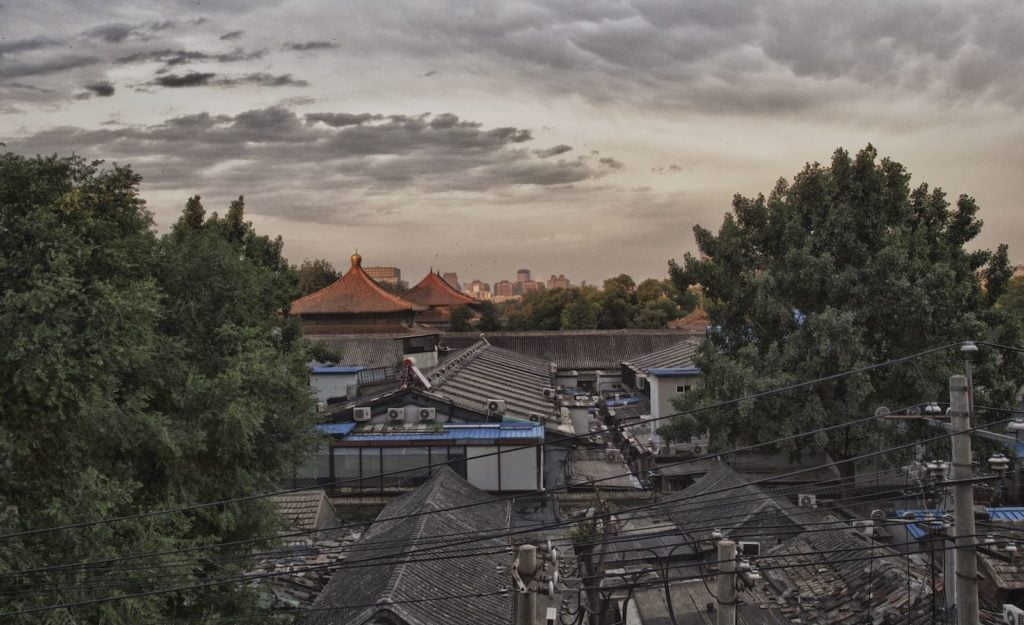 View over the Confucius temple in Beijing