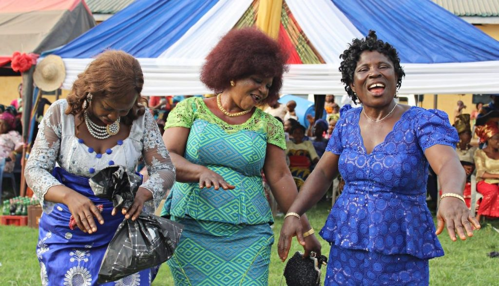 Traditional wedding dance at Igbo wedding. Igbo is one of the most spoken african languages.