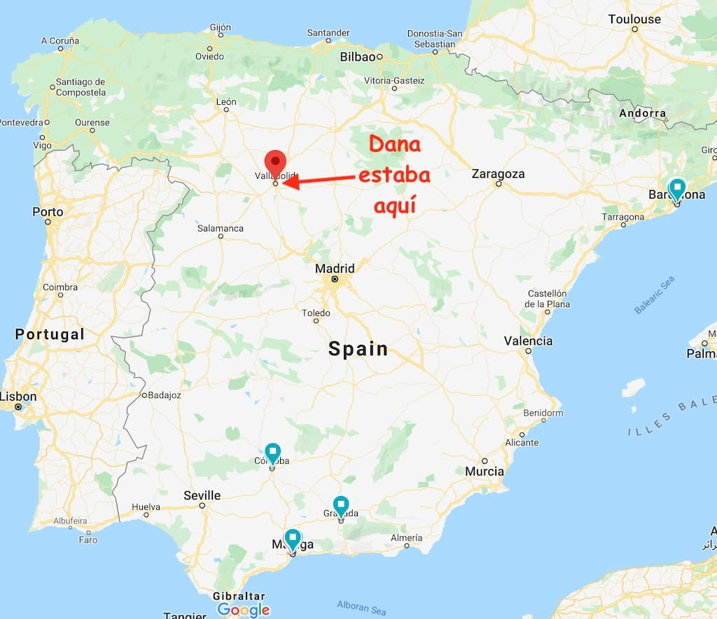 Where I learned spanish - in valladolid, spain, in castilla y leon.