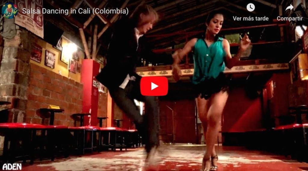 learning to dance salsa in Cali, Colombia — Youtube video