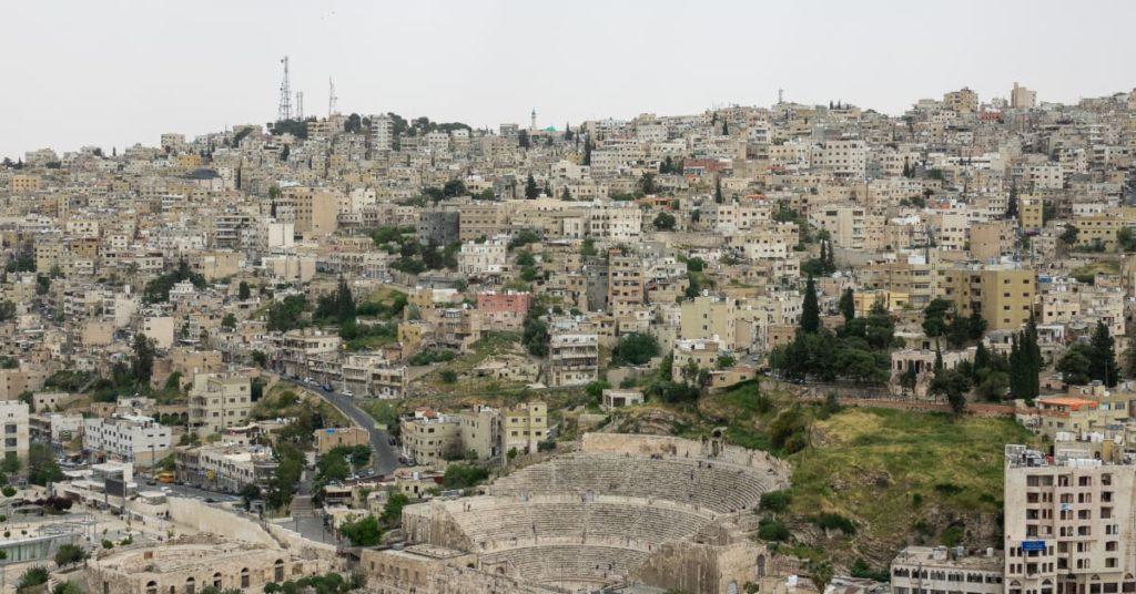 Jordan's city scape. In Jordan they speak Eastern Arabic.