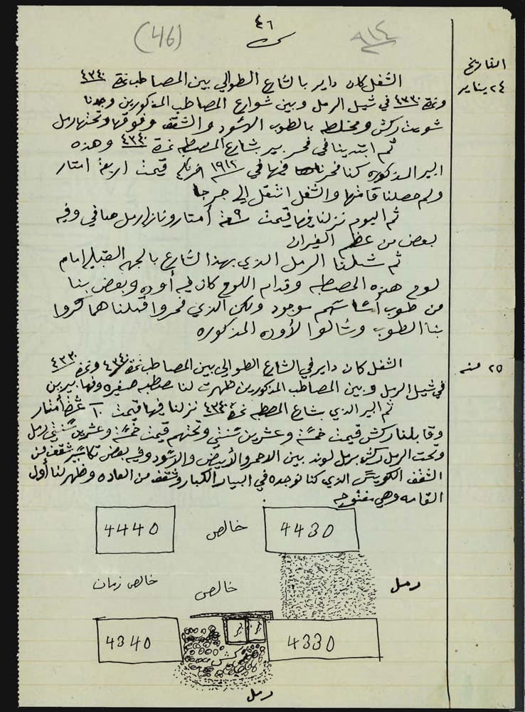 Journaling in another language in arabic, from giza, circa 1914