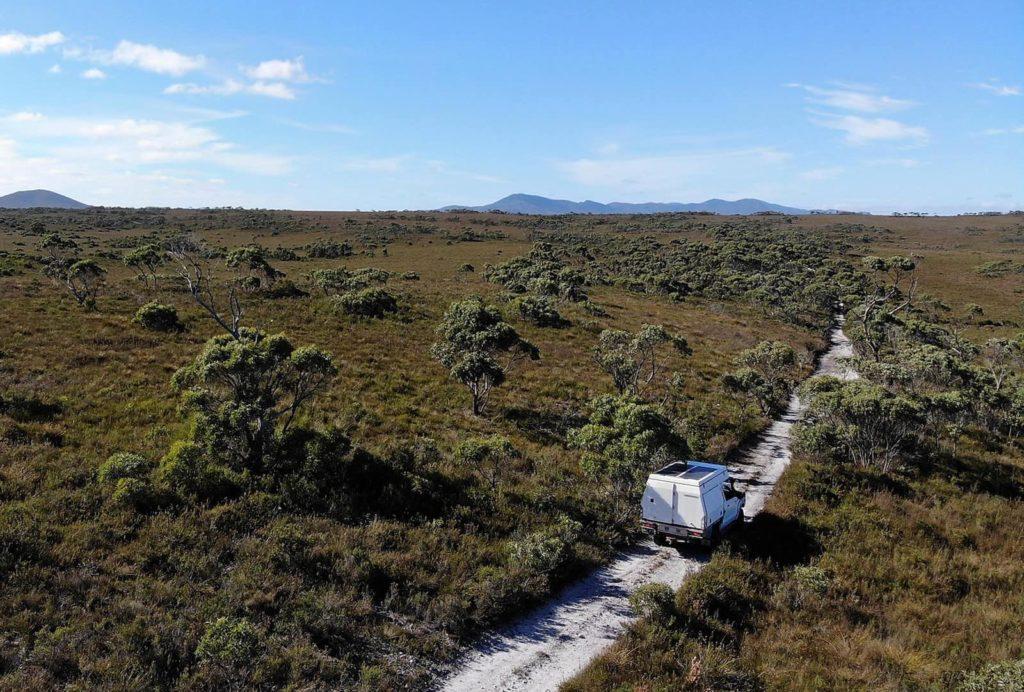 4x4 camper in Australian outback