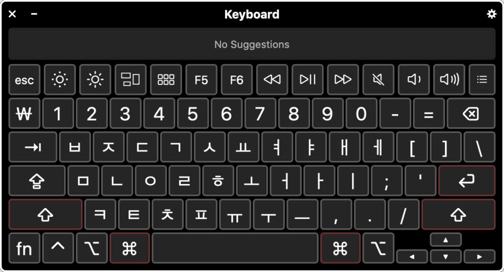 Korean keyboard layout on Apple Mac OSX