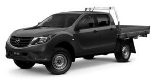 dual cab chassis - not ideal for campers but may fit some small ones.