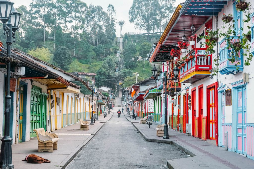 Calle Real walk salento colombia