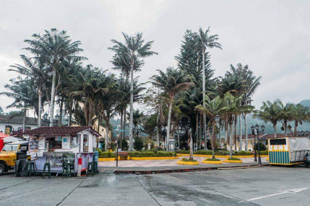 Plaza Bolivar palm trees Salento