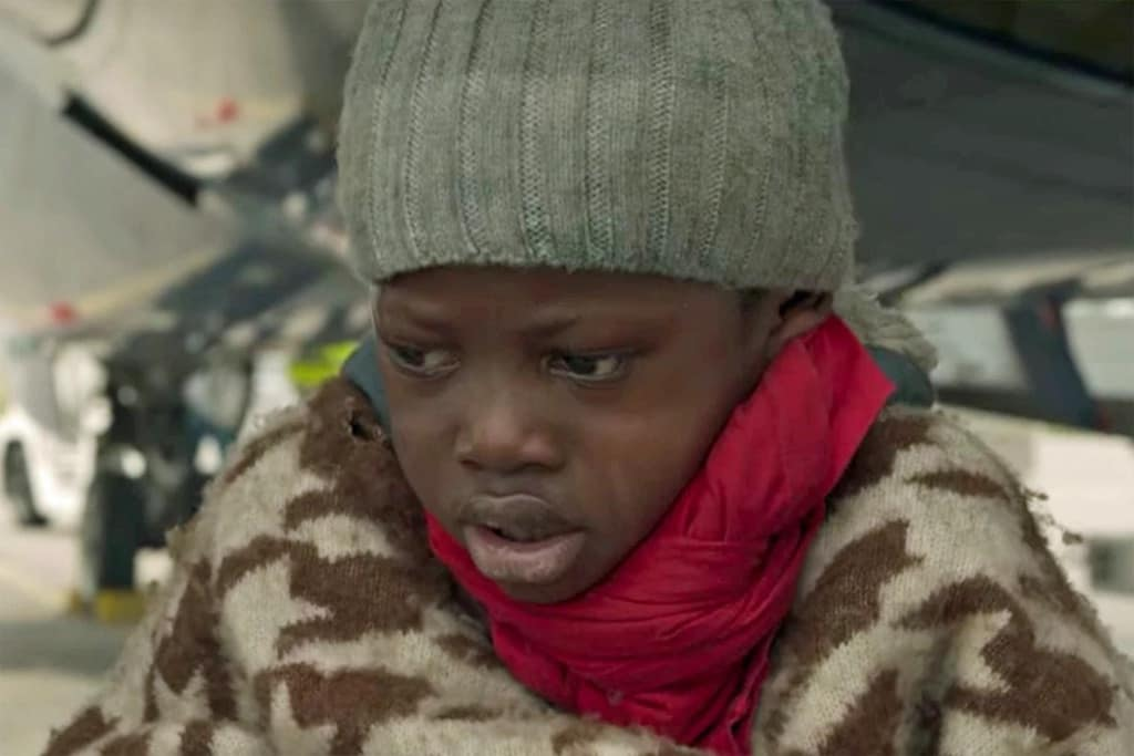 screenshot form adu, boy from cameroon, about migration into spain.