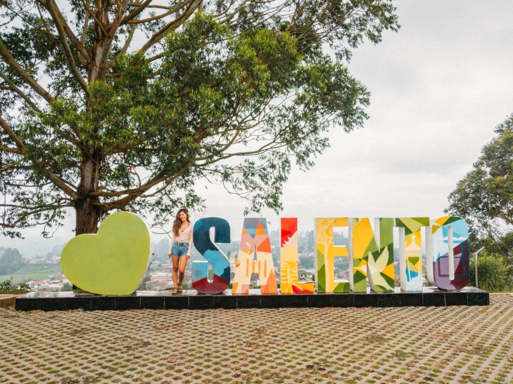 love salento sign mirador alto de la cruz salento colombia