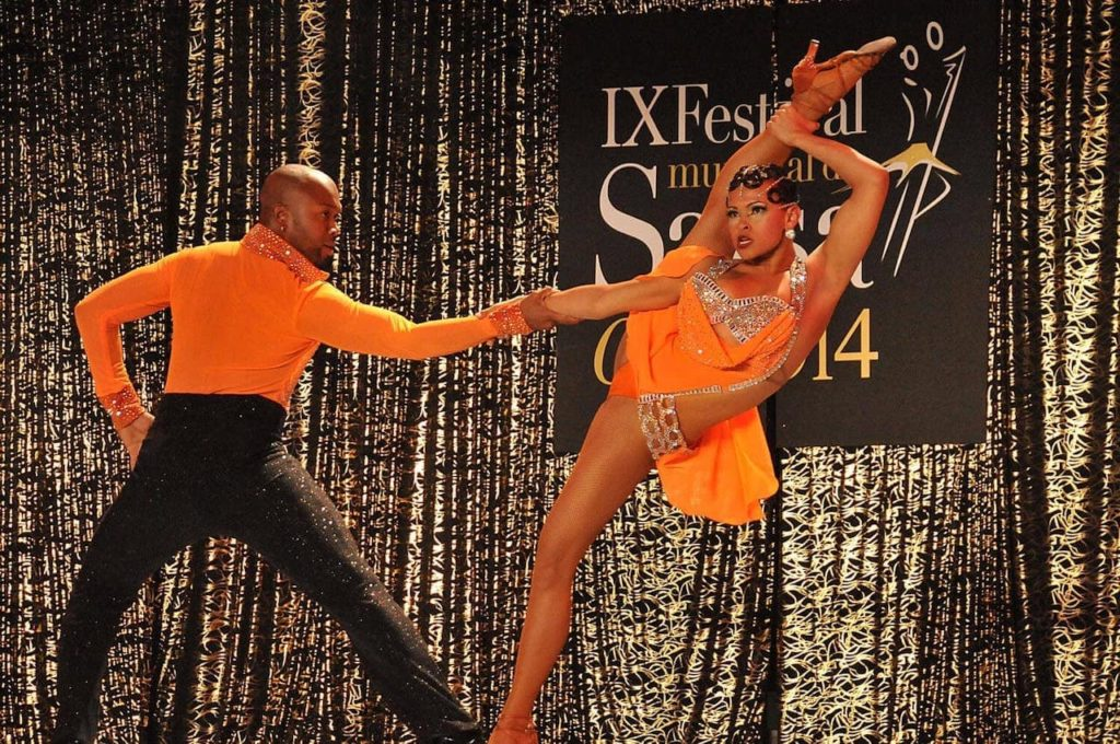 A salsa dance demonstration held at the world Salsa Festival in Cali, Colombia