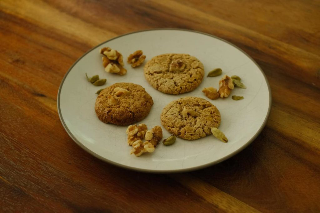 persian walnut cookies on a plate