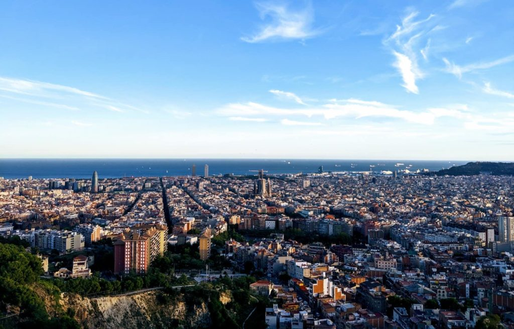 View over Barcelona in Spain