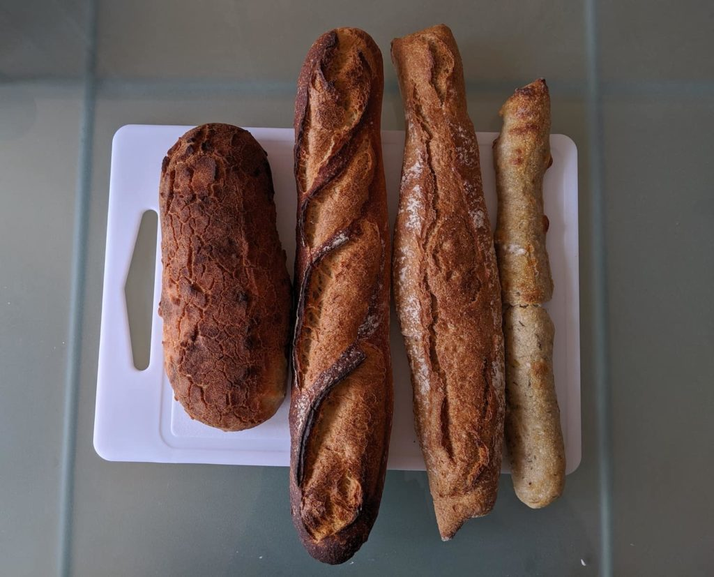 French words for bread including batard, baguette, etc.