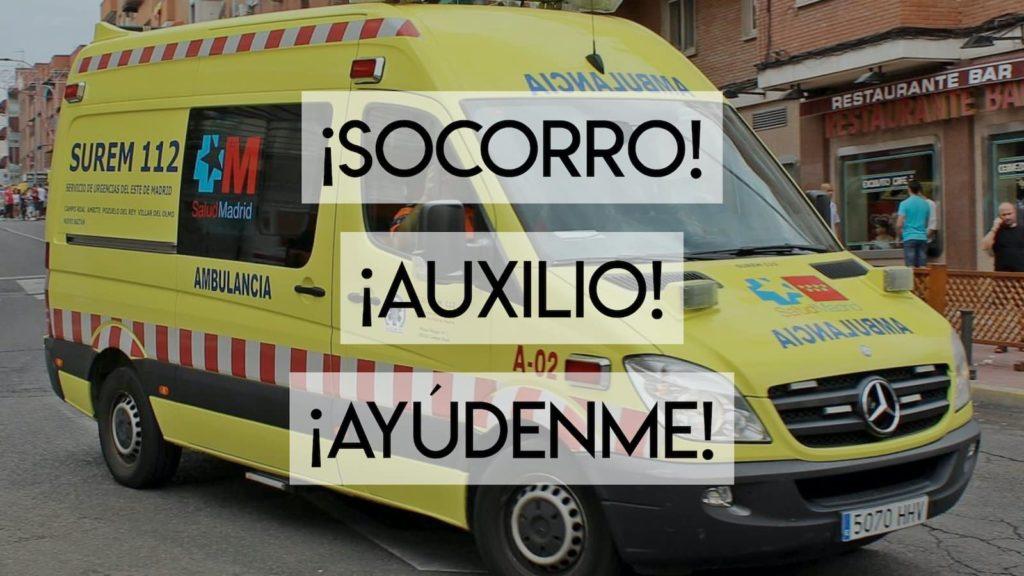 Help in spanish (socorro auxilio) over spanish ambulance