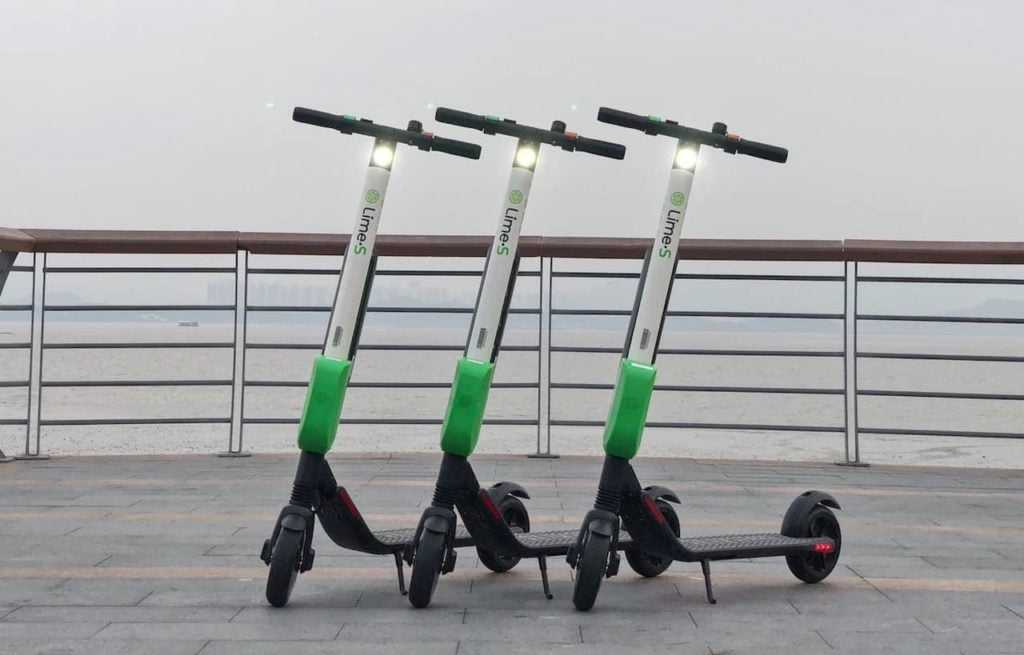 "Electric scooters in France, called ""patinette""."