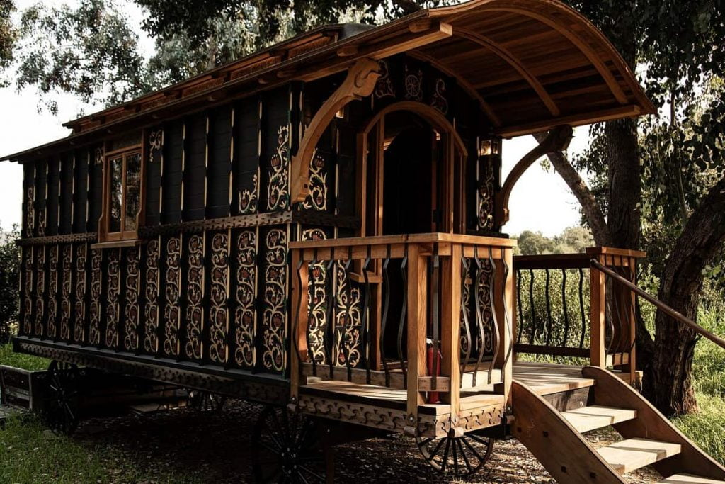 unique california airbnb the black carriage