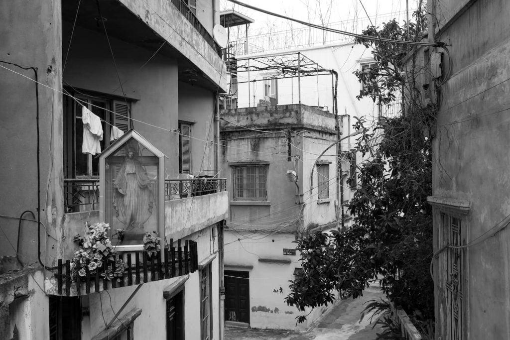 Streets of Beirut, where Levantine Arabic is spoken