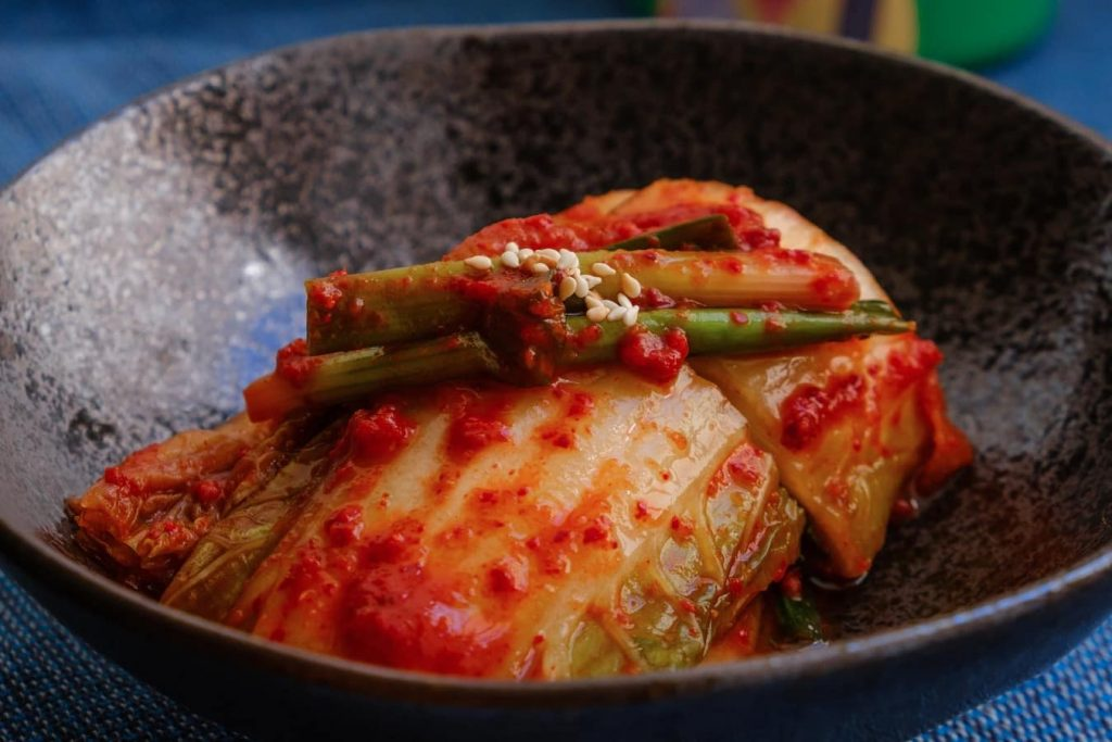 Kimchi, which is how you say cheese in Korean
