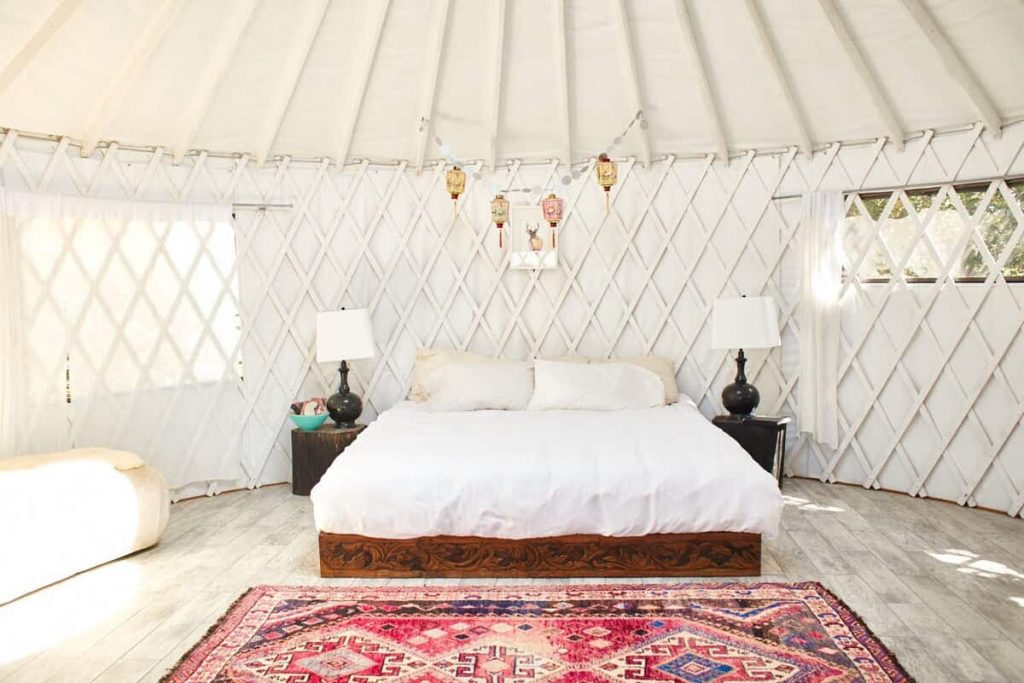 airbnb california skyfarm yurt