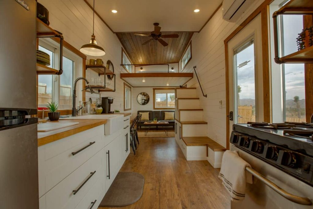 tiny home airbnb joshua tree interior