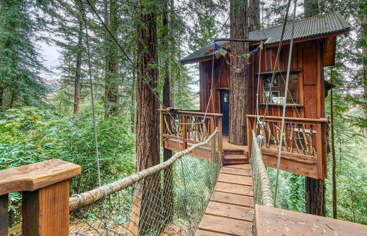 Treehouse in the Sky California Treehouse Rental