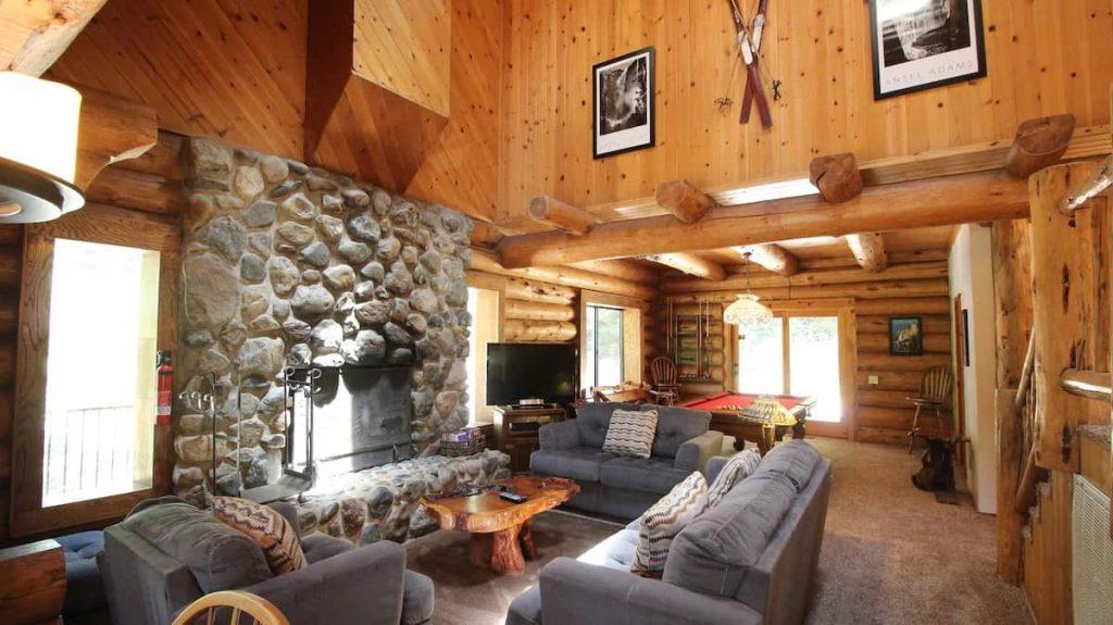 Tioga Logs Inside Yosemite Airbnb