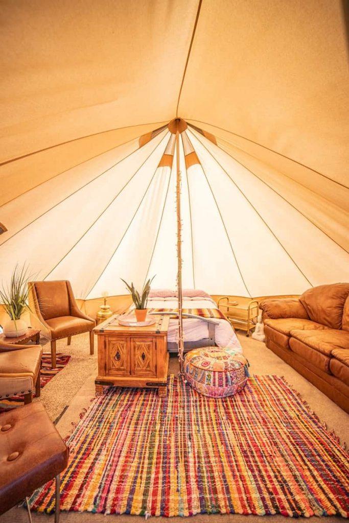 Wonder Valley Yurts Glamping in California Interior
