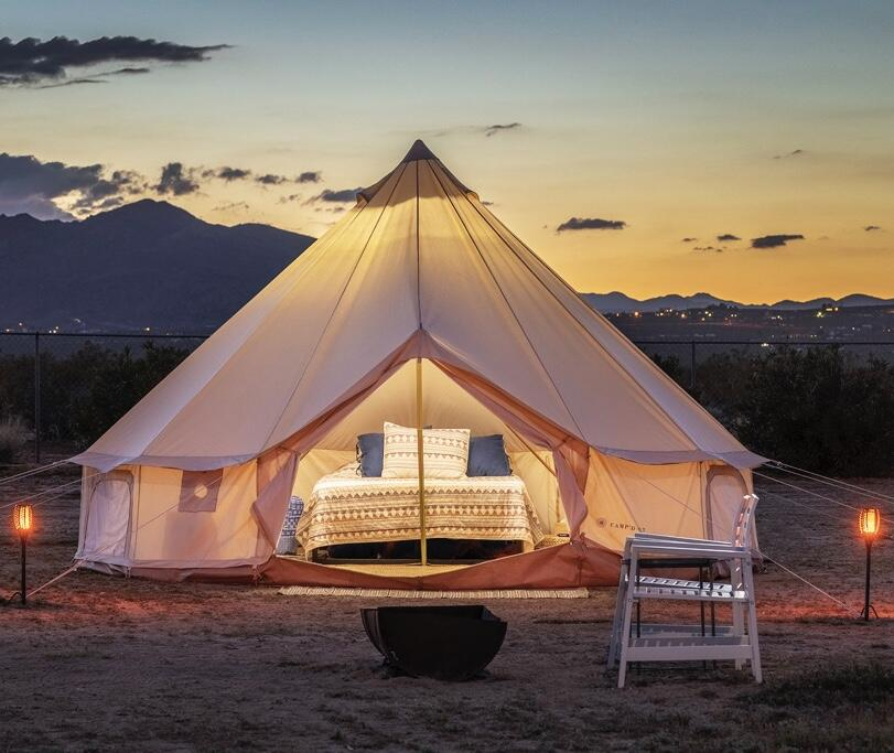 the castle house california glamping tent