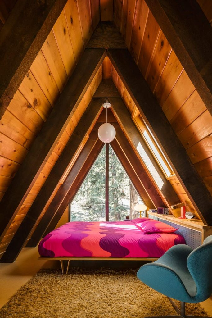 Atomic A-Frame Cabin Idyllwild California