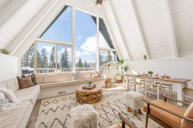Lakeview Renovated A Frame Cabin Best Airbnb Lake Tahoe Cabin